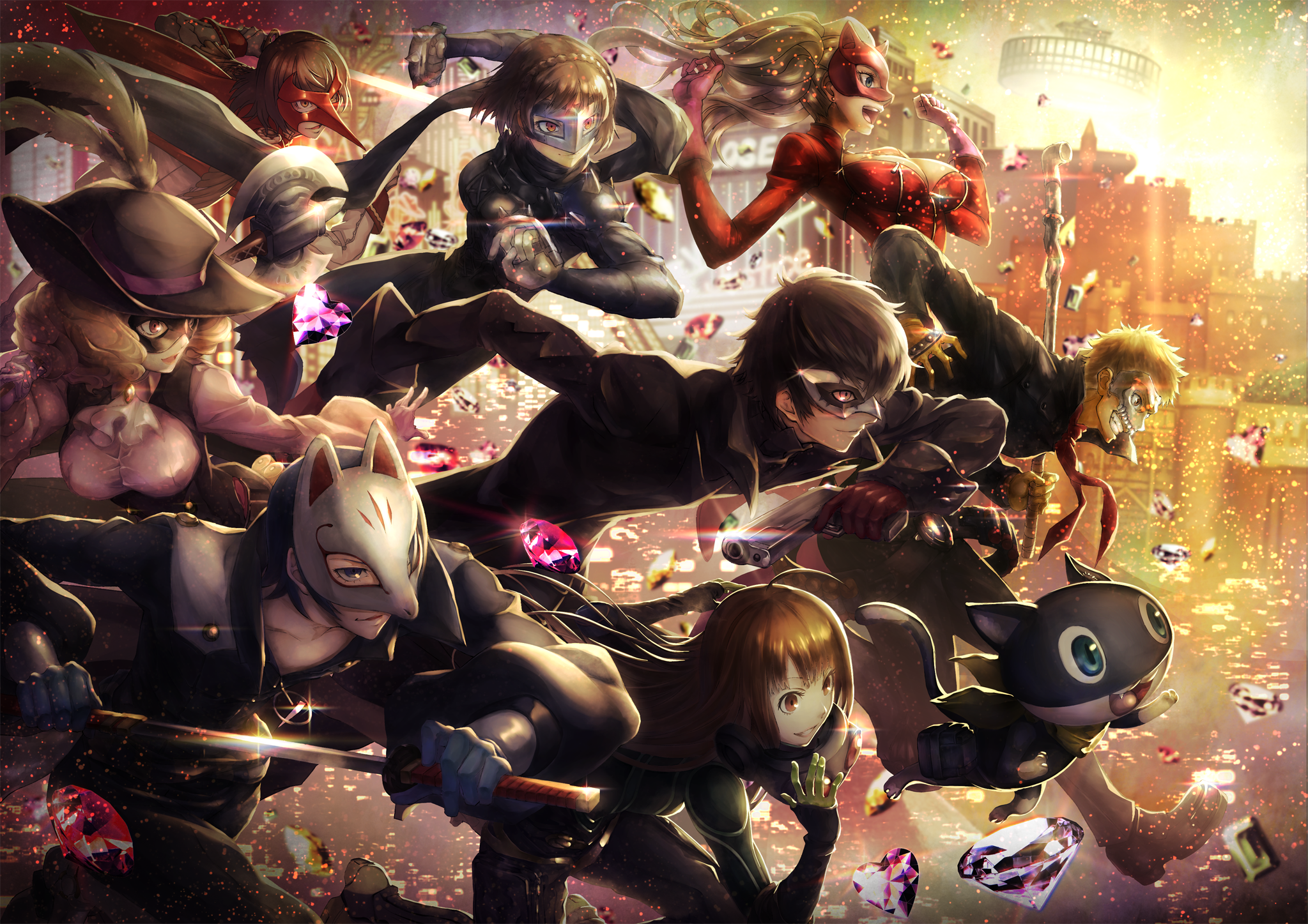 Makoto Persona 5 Wallpaper 2047x1447 Persona 5 Persona Akira