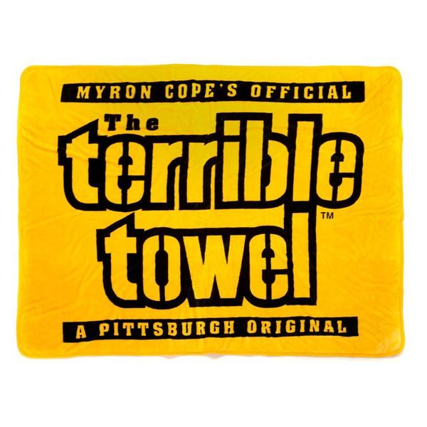 picture of pittsburgh steelers terrible towel silk touch blanket 60 x 80 - Pittsburgh Steelers Merchandise