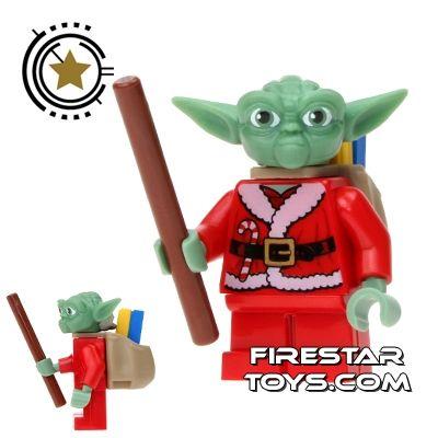 lego christmas minifigure festive yoda