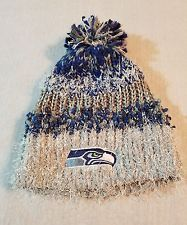 SEATTLE SEAHAWKS NFL POM TOP KNIT BEANIE WINTER HAT NFL TEAM APPAREL ... 37ce29026