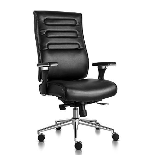 Executive Office Chair High Back Bonded Leather Desk Chair With Adjustable Armrests And Sliding Spring Seat Leather Desk Office Chair Executive Office Chairs