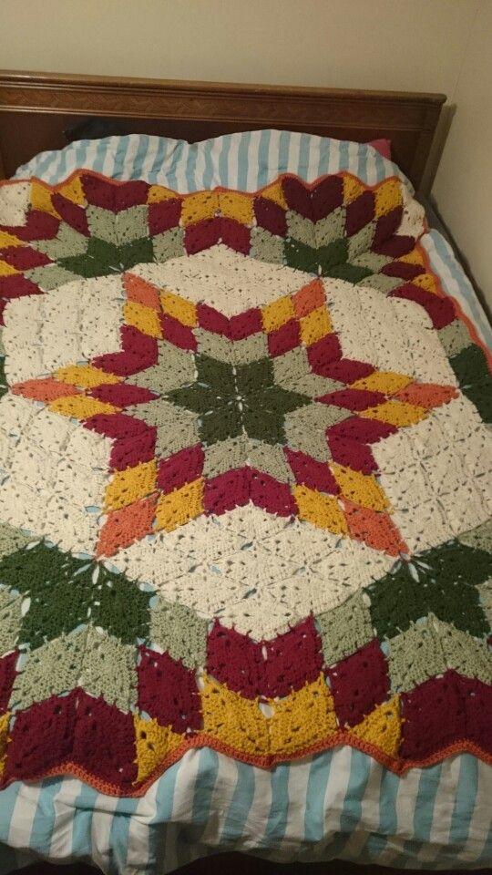 Prairie Star Afghan | cubrelecho | Pinterest