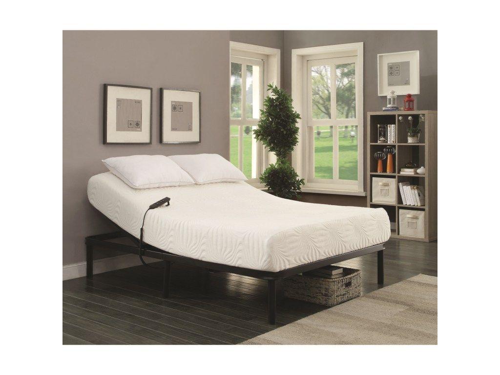 Stanhope Adjustable Bed Base Queen Electric Adjustable Bed Base By Coaster Lapeerfurniture Adjustable Bed Frame Electric Adjustable Beds Adjustable Bed Base
