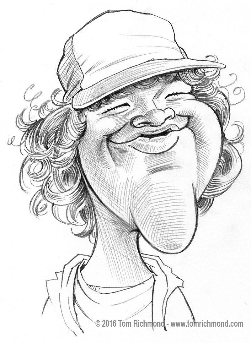 Sketch O The Week Gaten Matarazzo Caricature Sketch