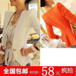 2013 spring women's shoulder pads blazer suit outerwear female