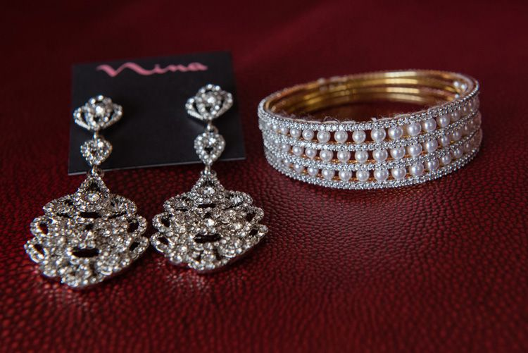 Beautiful brides bracelet and earrings bride bracelet