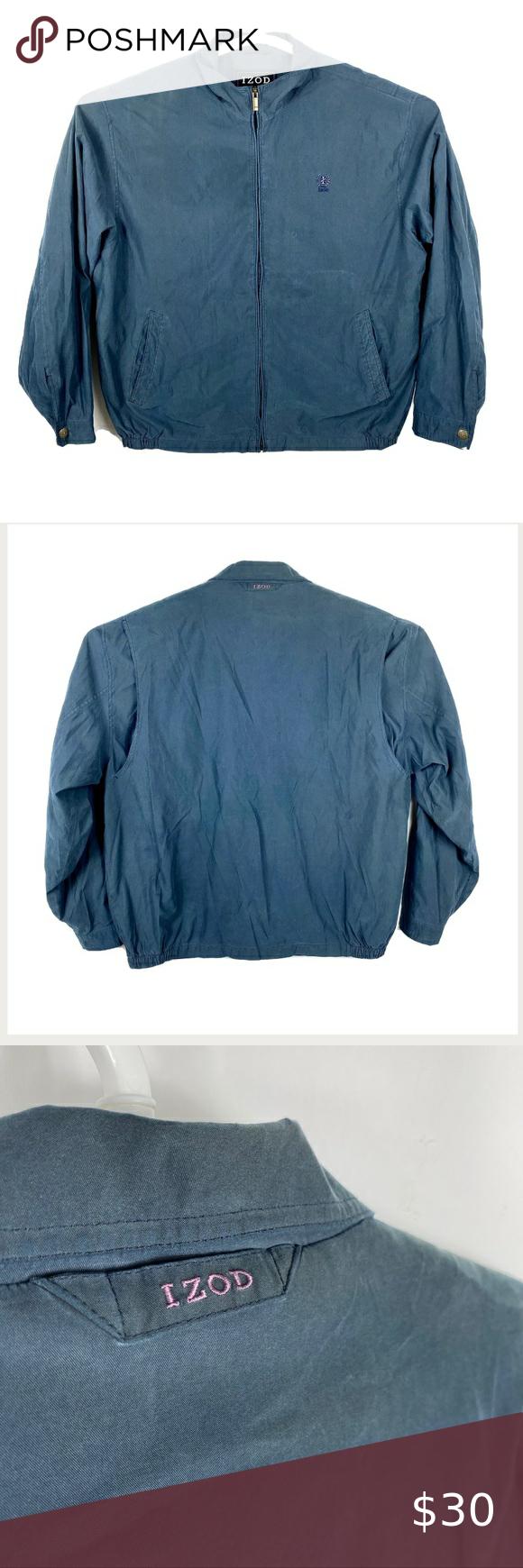 Izod Outerwear Mens Dad Jacket Size Xl Navy Blue Izod Outerwear Mens Dad Jacket Size Xl Navy Blue Vent Zip Up Light Coat 2577 Slight Br Outerwear Jackets Izod [ 1740 x 580 Pixel ]