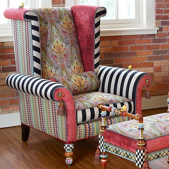 MacKenzie-Childs | Musette Wing Chair | MacKenzie-Childs in ...