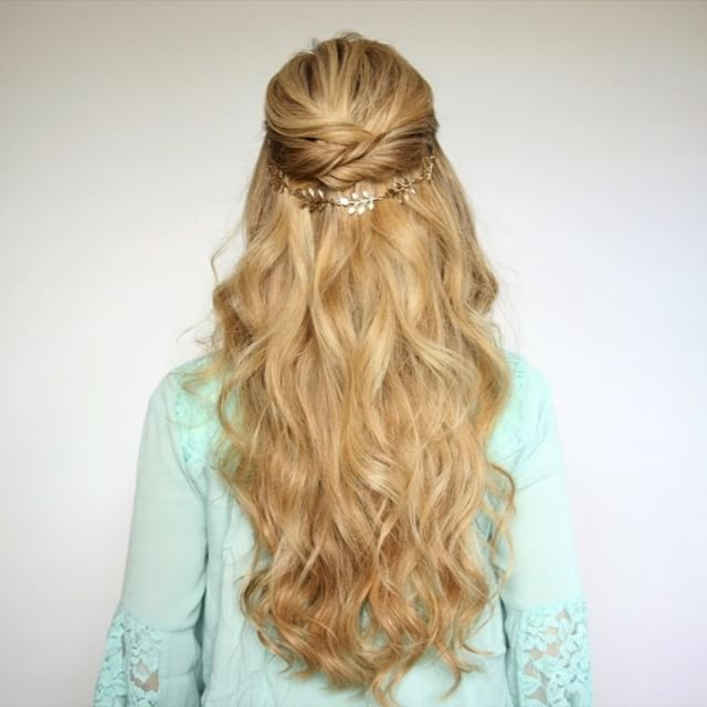 Easy Prom Hairstyles Half Updos  Easy Prom Hairstyles Hair Chains And Prom Hairstyles