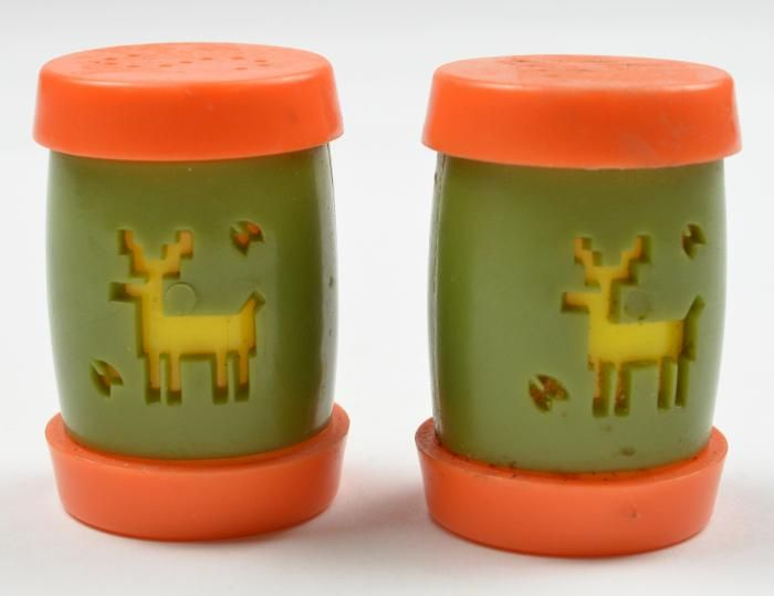 Collectible Salt & Pepper Shakers | Vintage St Labre Indian School Montana Plastic Salt & Pepper Shaker ...