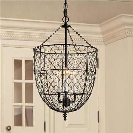 Chicken Wire Smokebell Lantern | Chicken wire, Country decor and Canopy