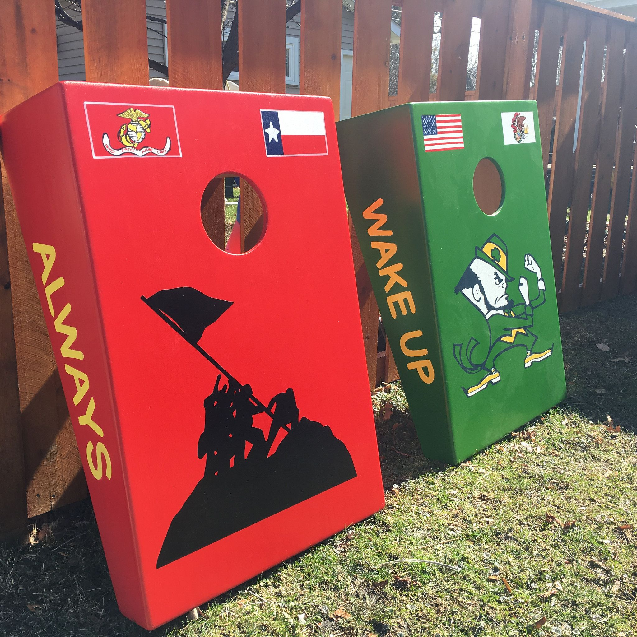 Pin by ChiTown Custom Cornhole on Flag and Map themed