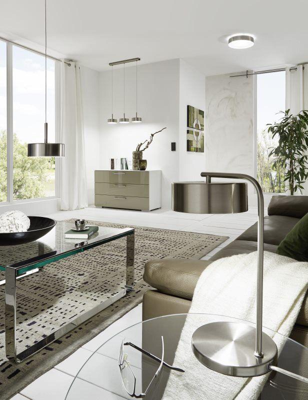 EGLO ESTOSA LED Deckenleuchte nickel-matt, weiss - schlafzimmer beleuchtung led