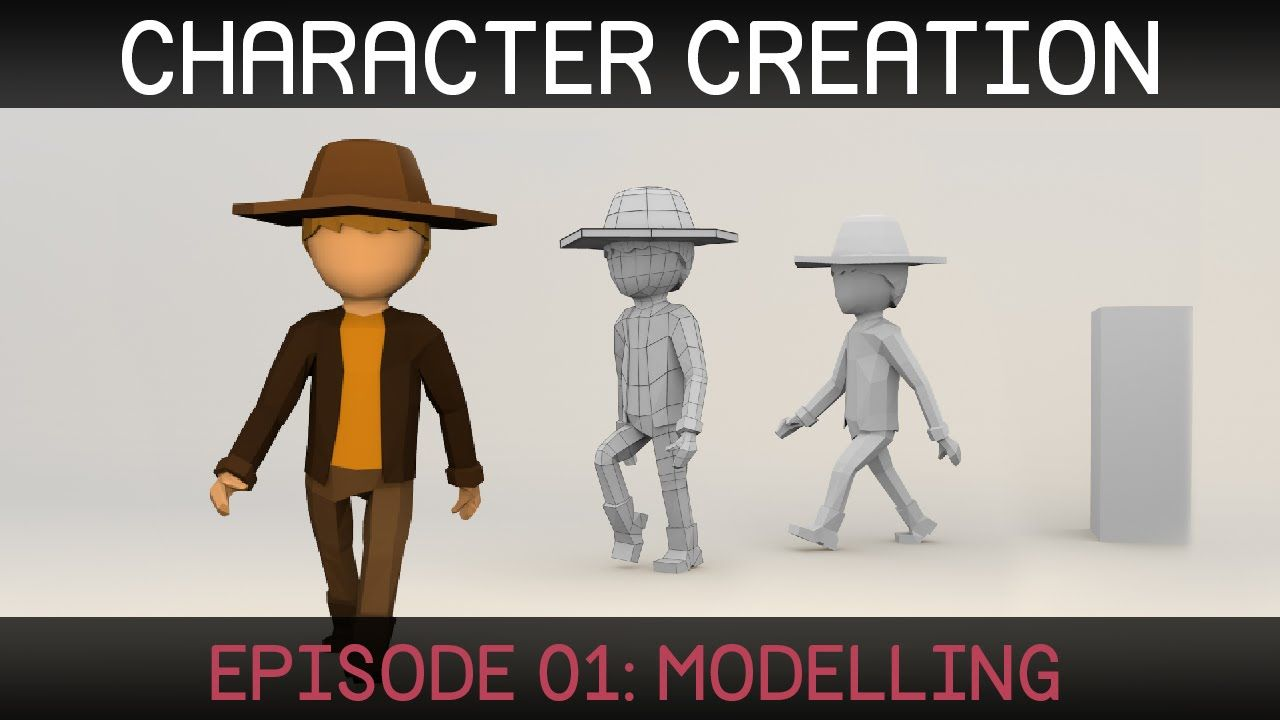 Blender Modeling A Cartoon Character : Blender character creation modelling series of videos