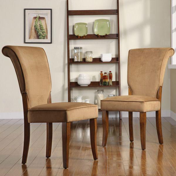 Andorra Peat Velvet Upholstered Dining Chair By Tribecca Home Set Of 2