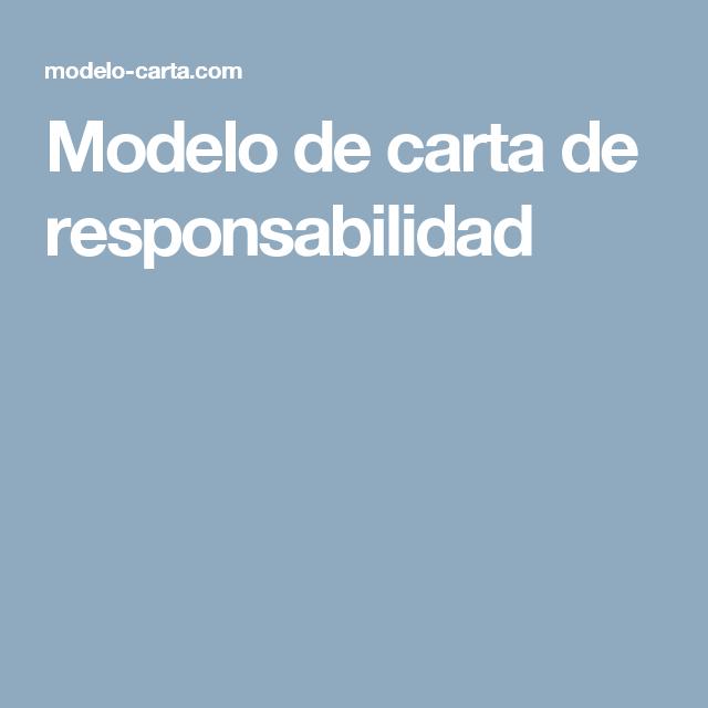 Modelo De Carta De Responsabilidad Arquitectura Modelo