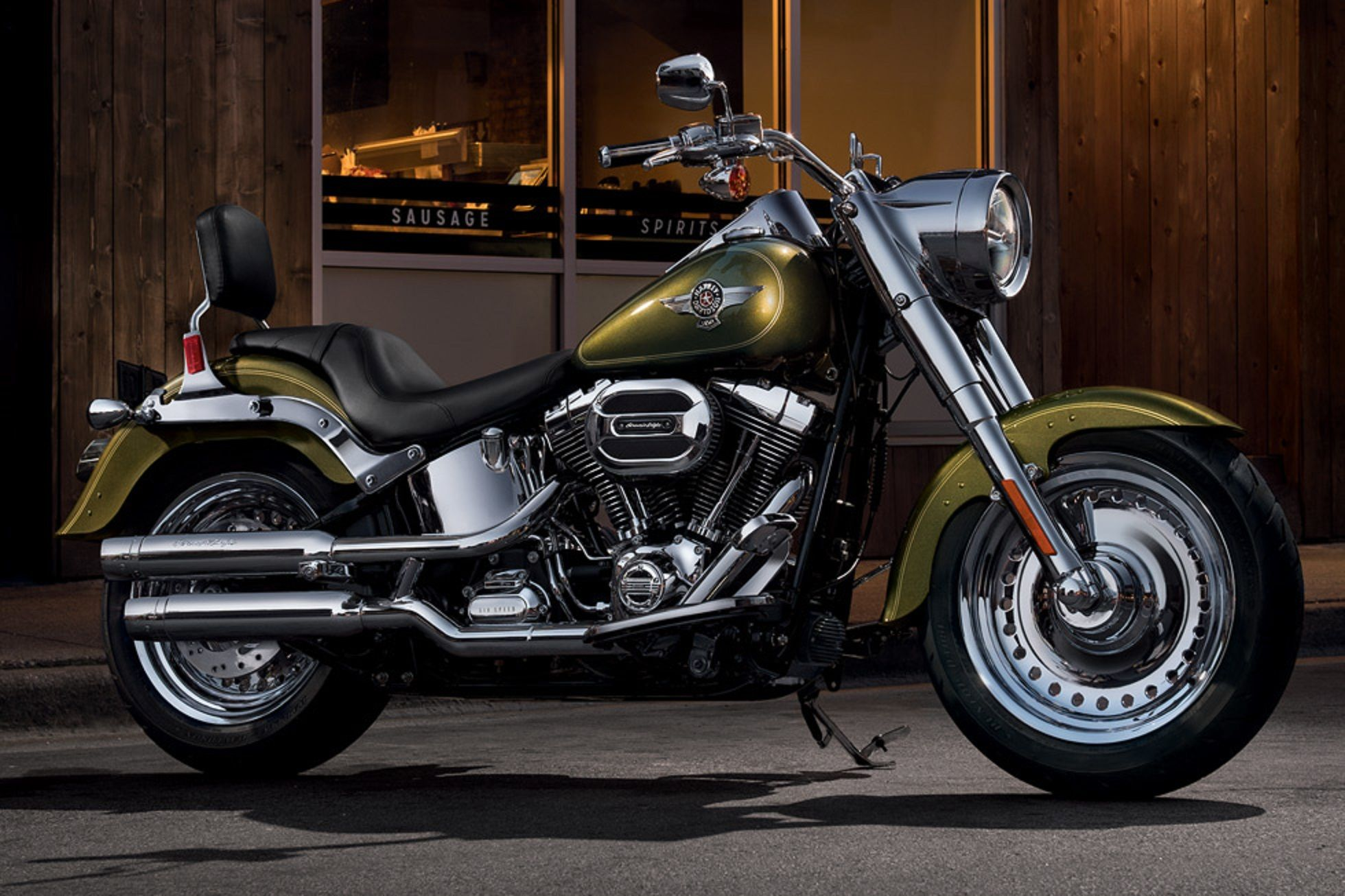 Let your eyes take a run over the 2017 harley davidson softail fat boy in this photo gallery