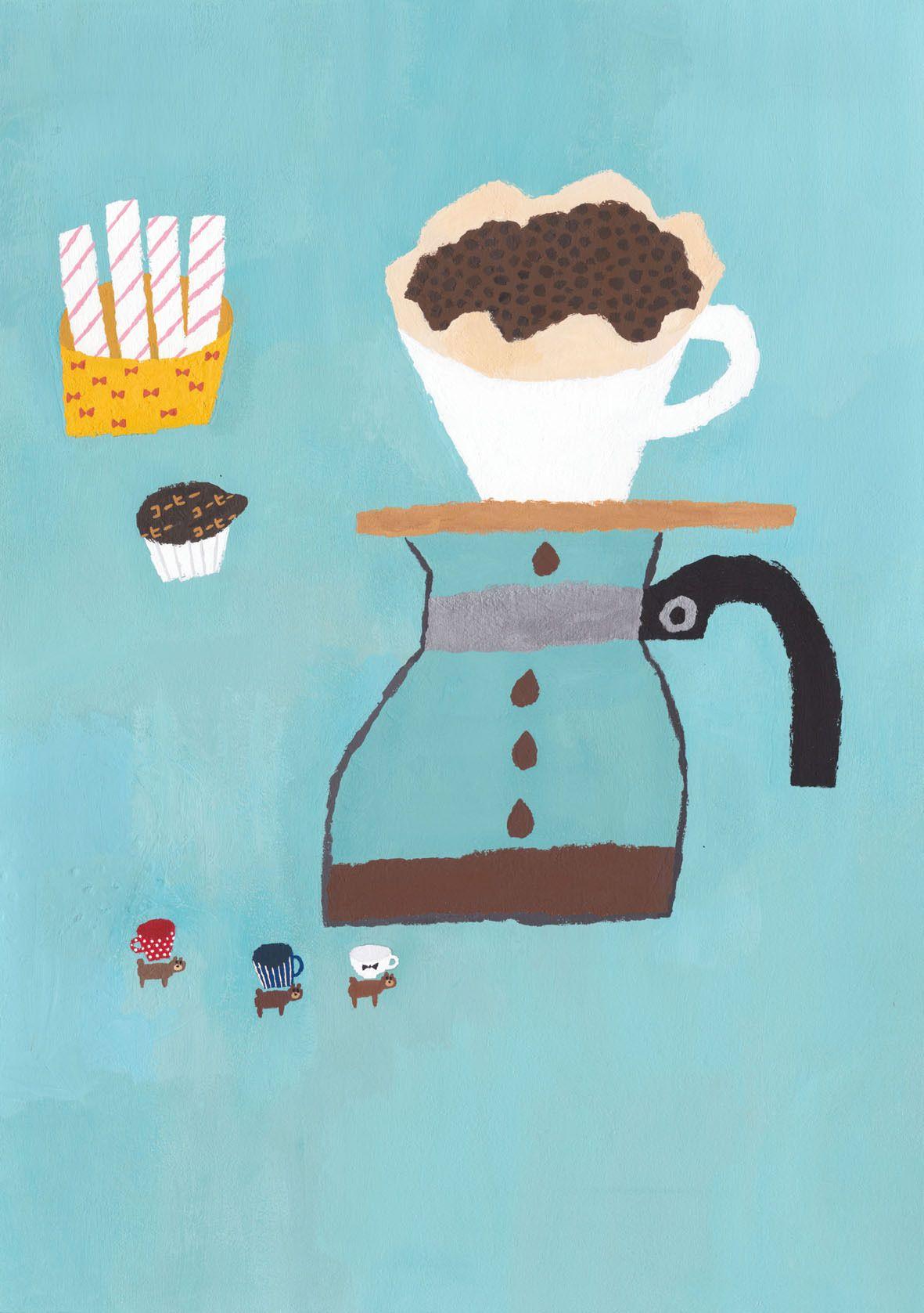 かわいいイラスト おしゃれまとめの人気アイデア Pinterest Yuki 2020 コーヒーのイラスト キュートなイラスト カフェイラスト