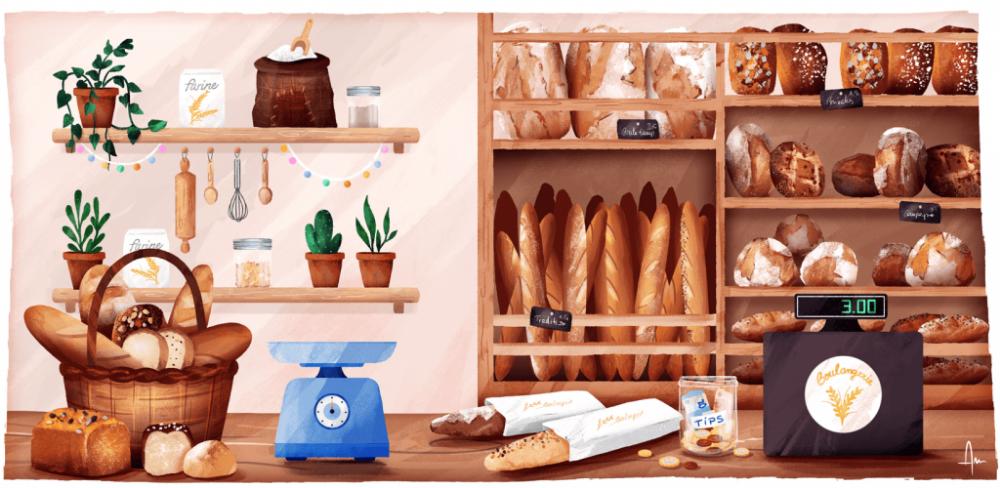 Pin op avec du pain
