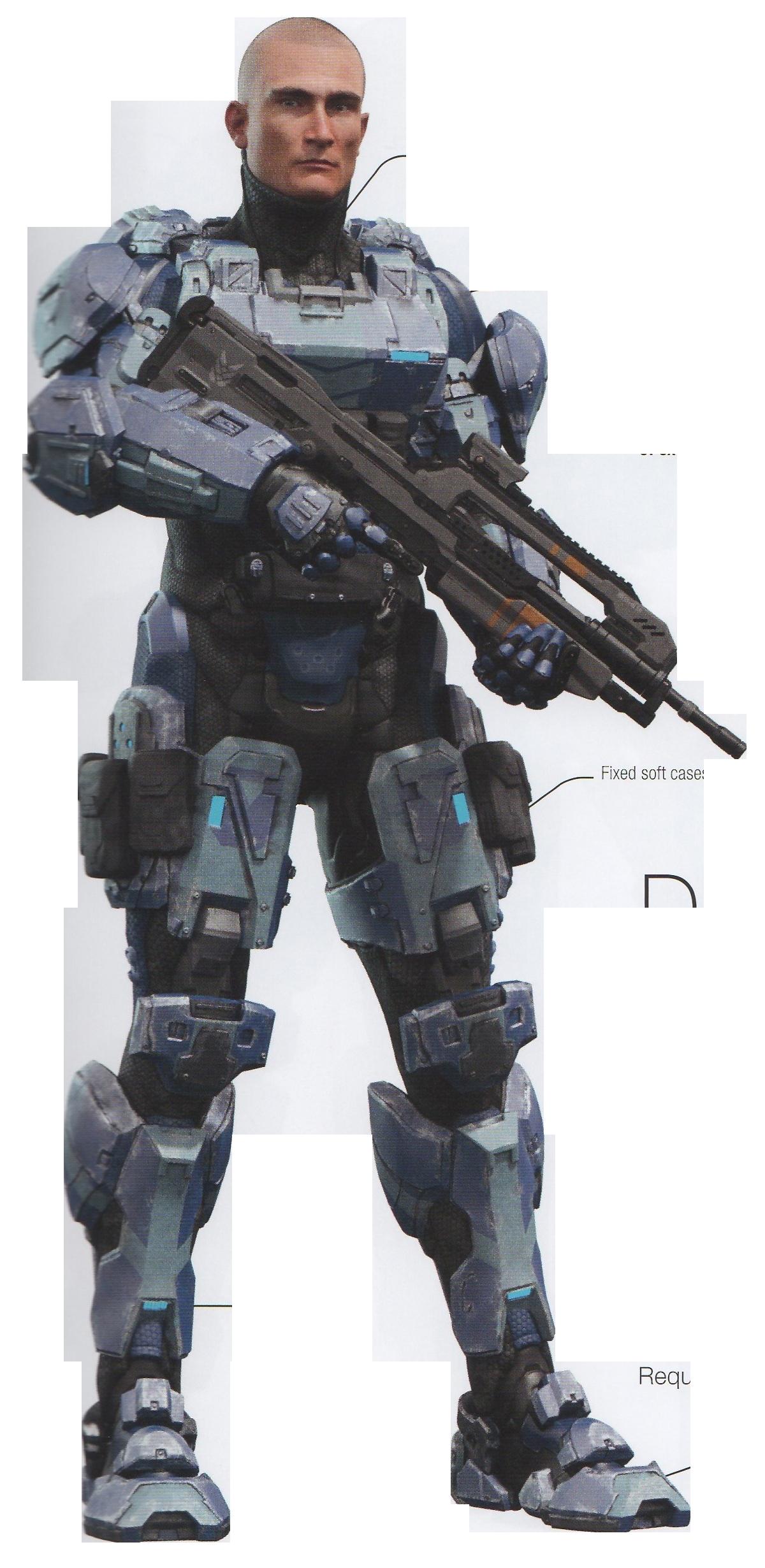 Full Spartan commando without helmet   Halo armor ...