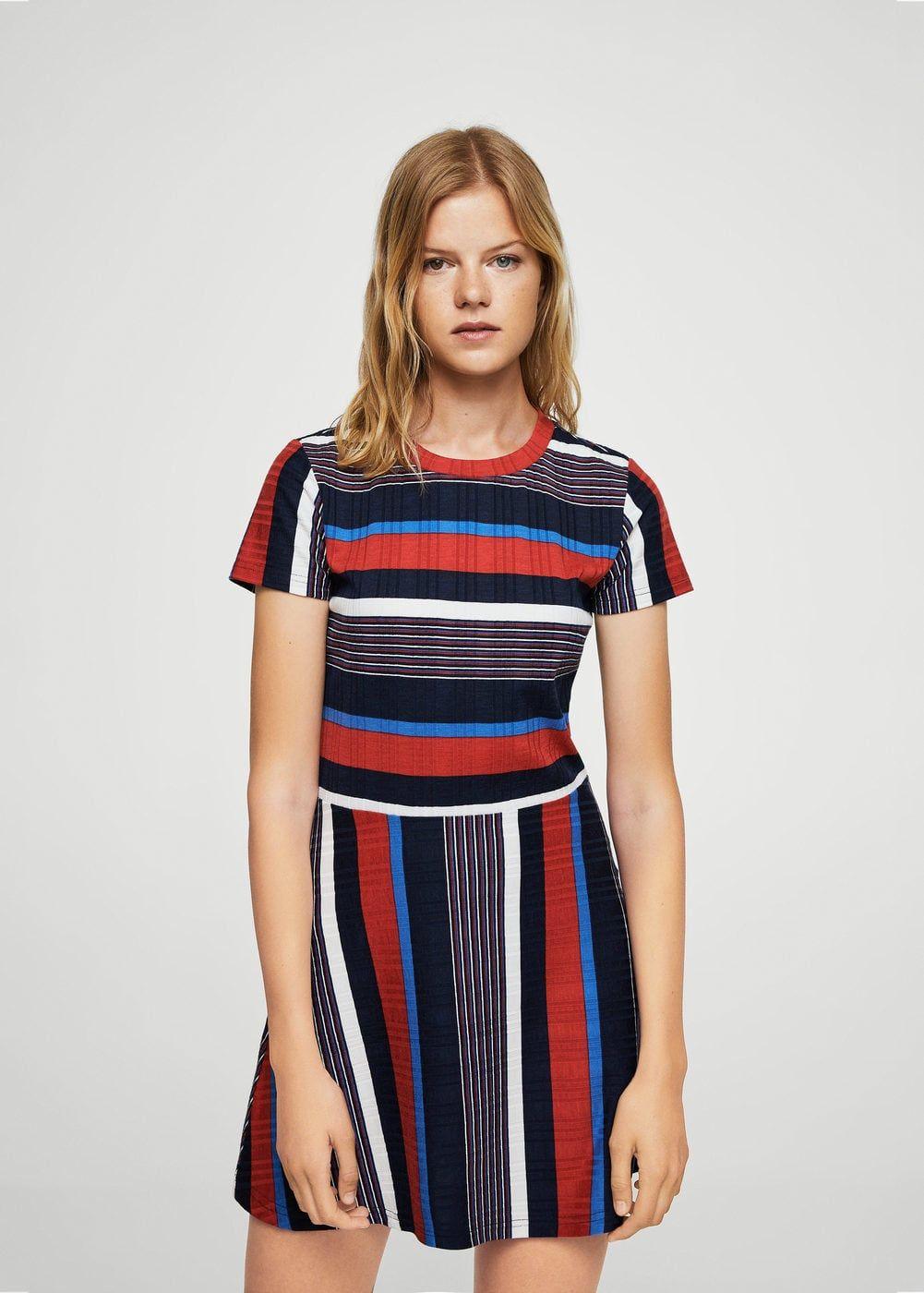 collection entière produits de commodité Royaume-Uni Robe maille côtelée à rayures - Femme | Stripes | Robe, Robe ...