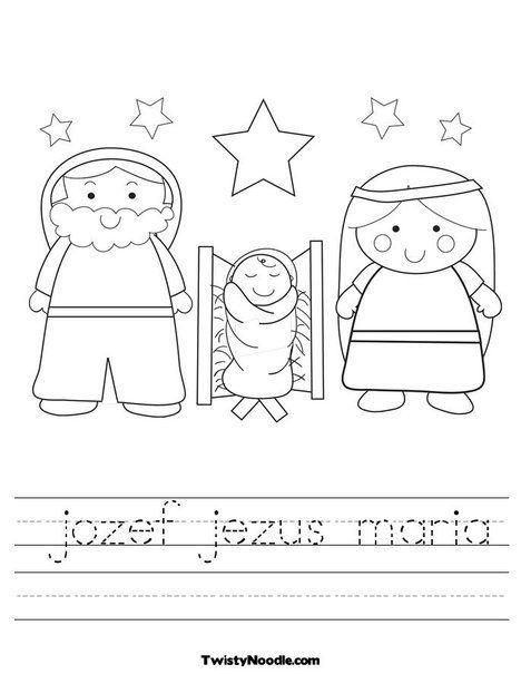 jozef jezus maria Worksheet from TwistyNoodle.com | kerst ...