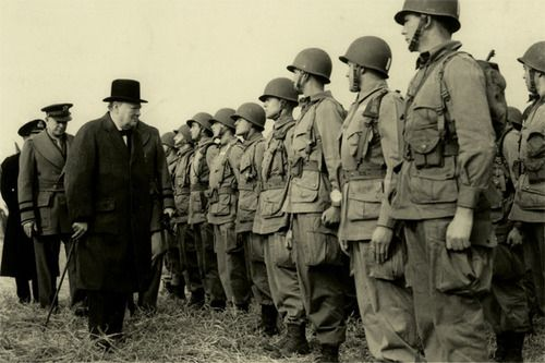 Churchill & Ike. Together. Bad ass.
