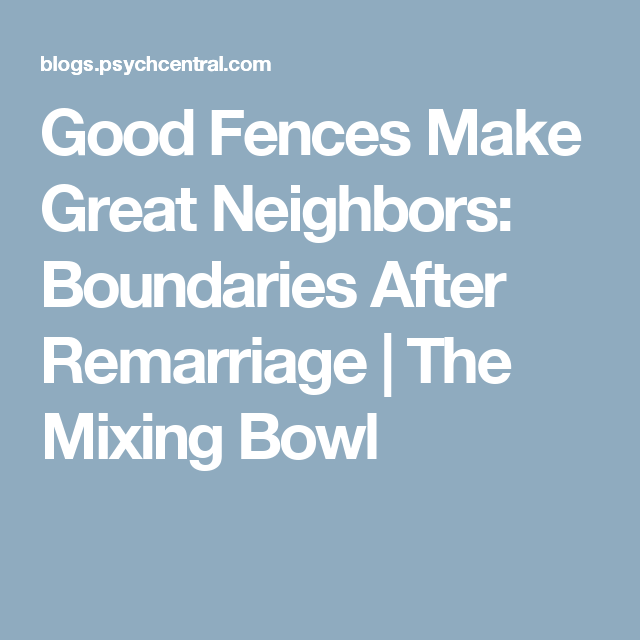 Good Fences Make Great Neighbors: Boundaries After