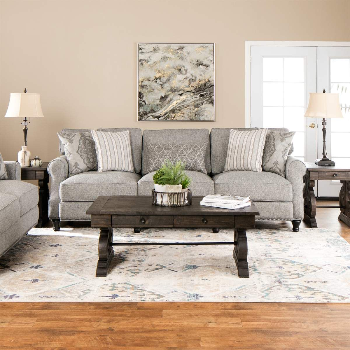 Best The Jamestown Living Room Sofa And Loveseat Set Offers 640 x 480