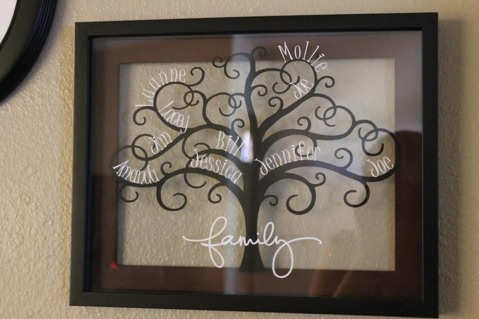 Pin By Dawn Overmann On Silhouette Love Family Tree Picture Frames Family Tree With Pictures Vinyl Crafts