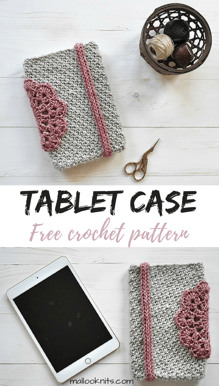 Tablet case girly free crochet pattern