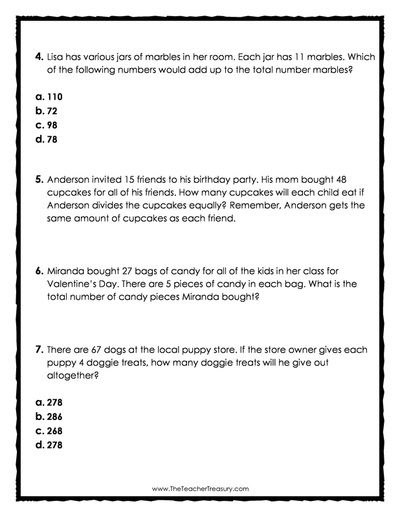 FREE Word Problems Mixed Practice 4 Pages 15 Questions