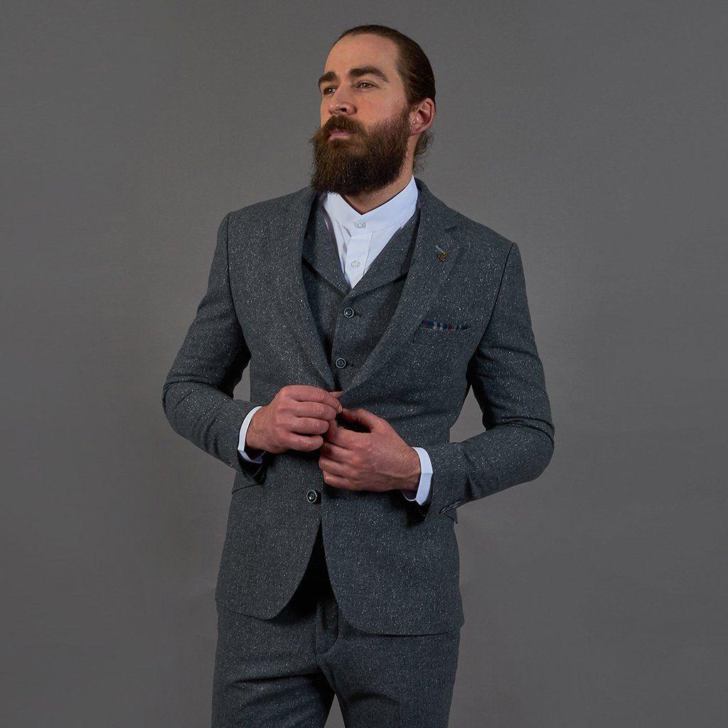 ec93bc1ce22d Winter wedding suit - Gibson London Gunmetal Grey with Fleck Wool Mix Suit  #wintersuit #winterwedding #woolmix #masterdebonair #gibsonlondon  #mensfashion