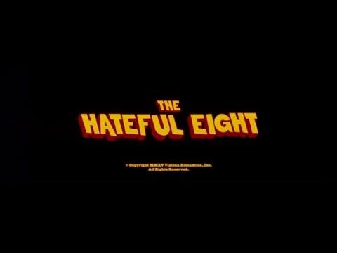 Image result for hateful eight title card