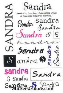 Sandra Name Tattoo Designs