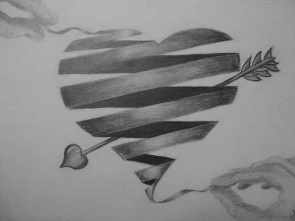 10+ Cool Heart Drawings for Inspiration | Heart Drawings ...  Realistic
