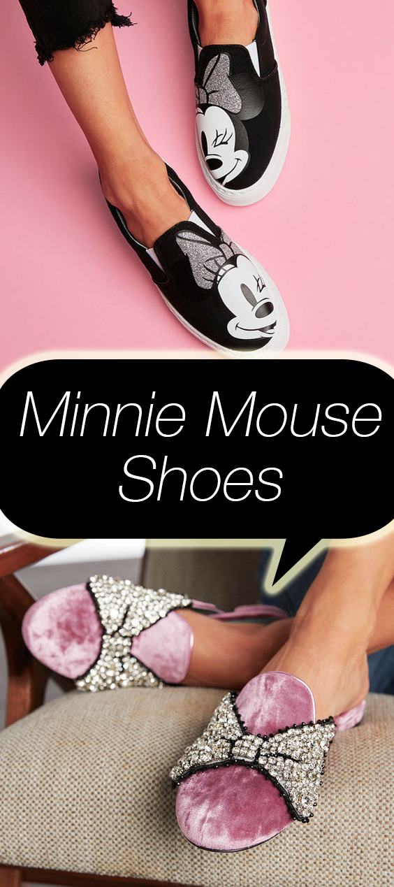 4b7520743c0 Disney collaborated with a designer on an entire line of flat shoes inspired  by Minnie Mouse. Click above to shop the line.