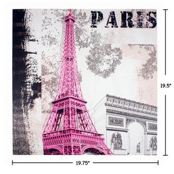 Eiffel in the Pink Canvas Art