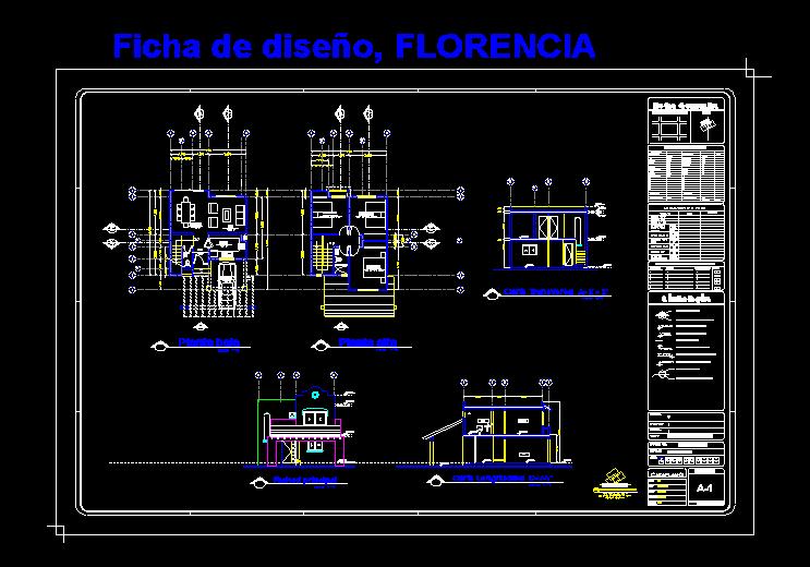 Planos De Modelo De Casa En Autocad Autocad House Floor Plans Plan Design