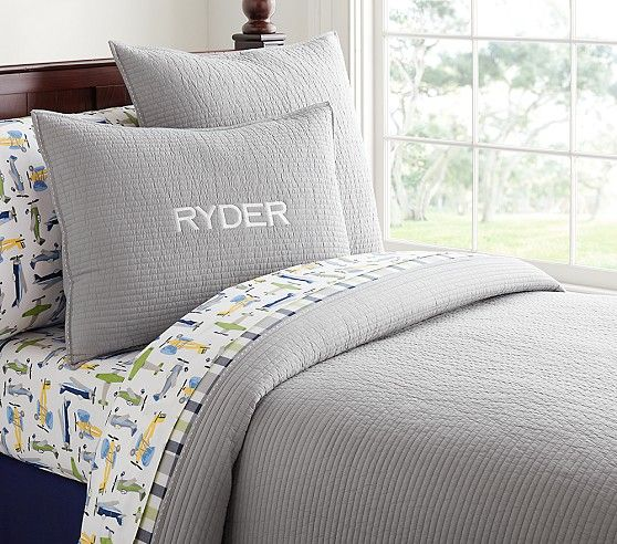 Kingston Quilted Bedding | Pottery Barn Kids - Twin quilt $99 ... : solid twin quilt - Adamdwight.com