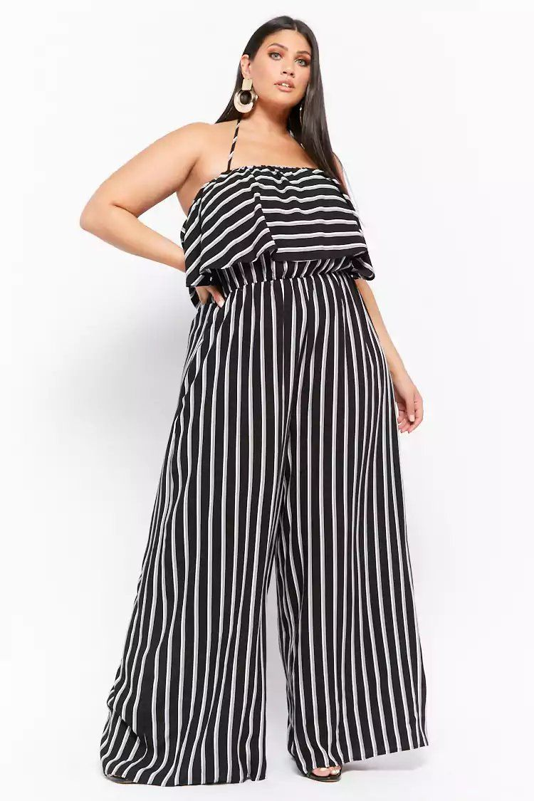 1d947a9f6ae Product Name Plus Size Striped Halter Jumpsuit