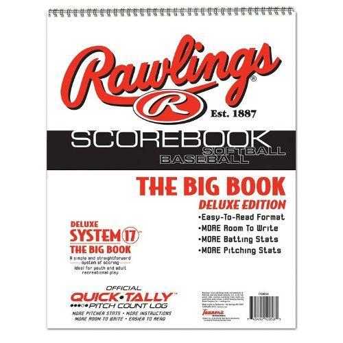 Baseball\/Softball Scorebook Big Book with Pitch Count Log (Little - baseball scoresheet