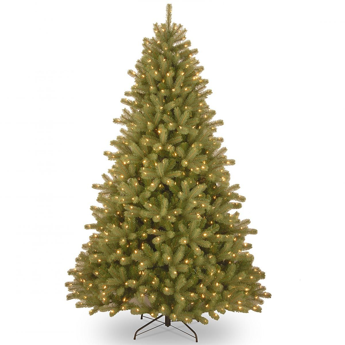 Real Christmas Trees Lowes: 6.5ft Pre-lit Lakewood Spruce Feel-Real Artificial
