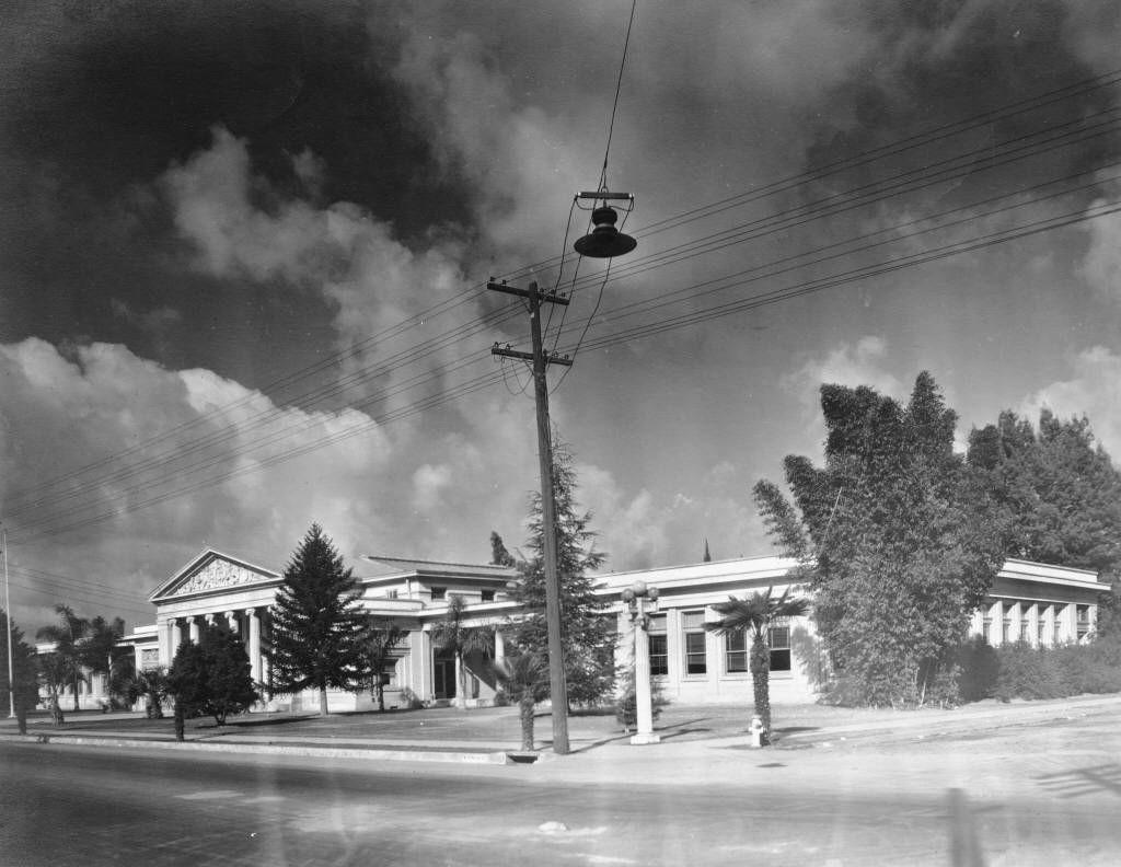 Anaheim High School In The 1920 S Anaheim California Anaheim Anaheim High School