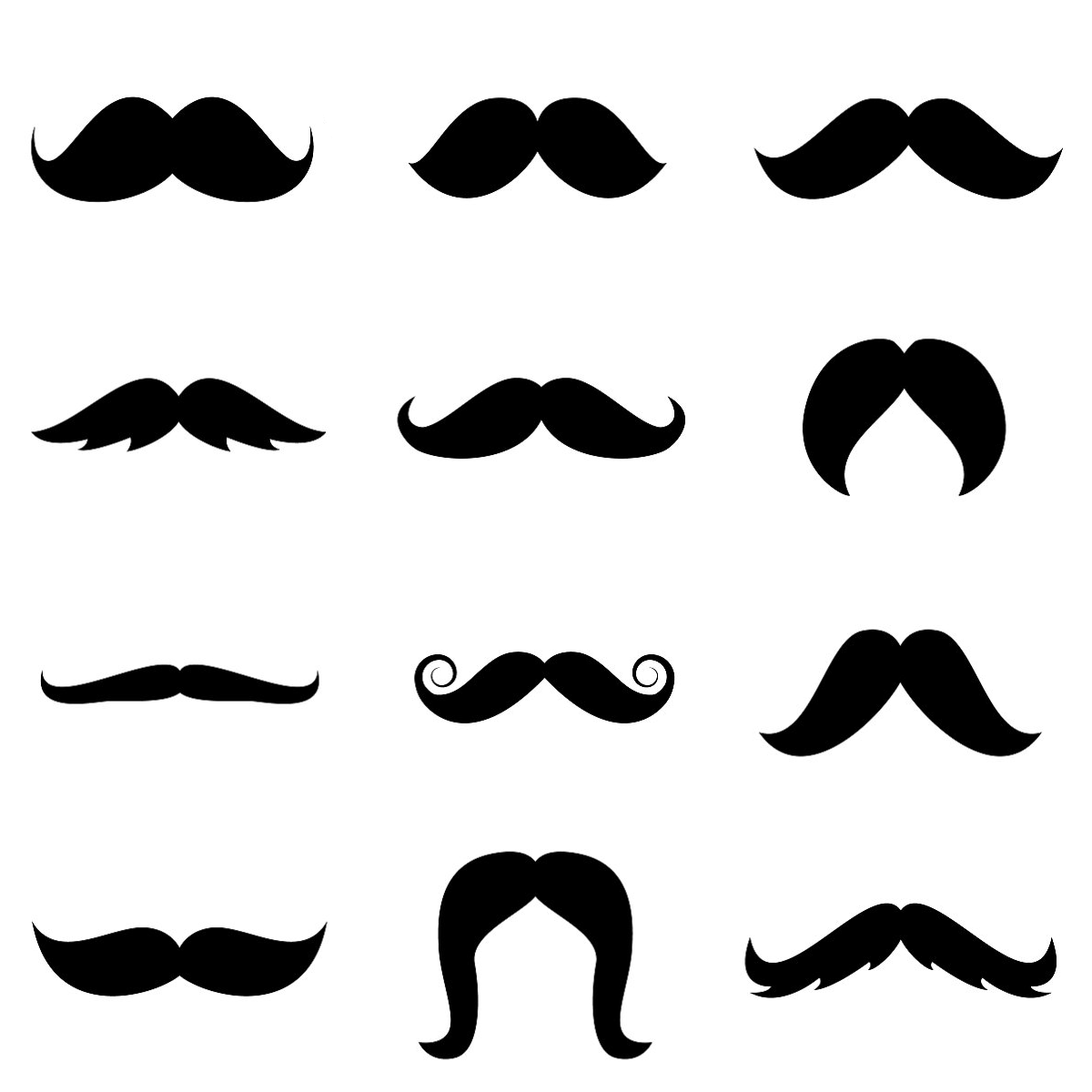 graphic about Printable Mustache Template called mustache template cost-free printable Stenciled Reduce Material