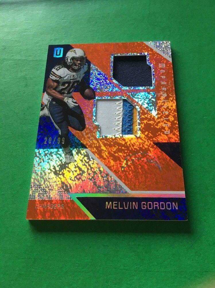 2016 Panini Unparalleled Melvin Gordon Dual Relic Patch
