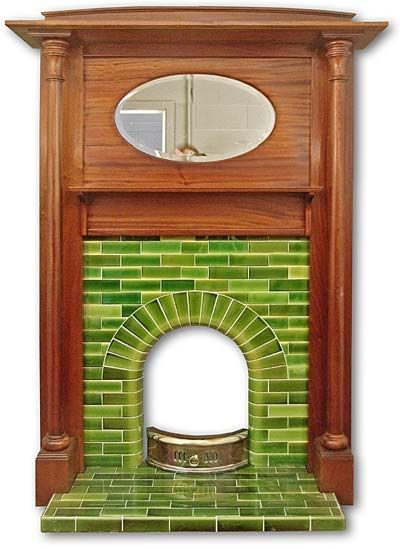 1930s house and Fireplace mantel