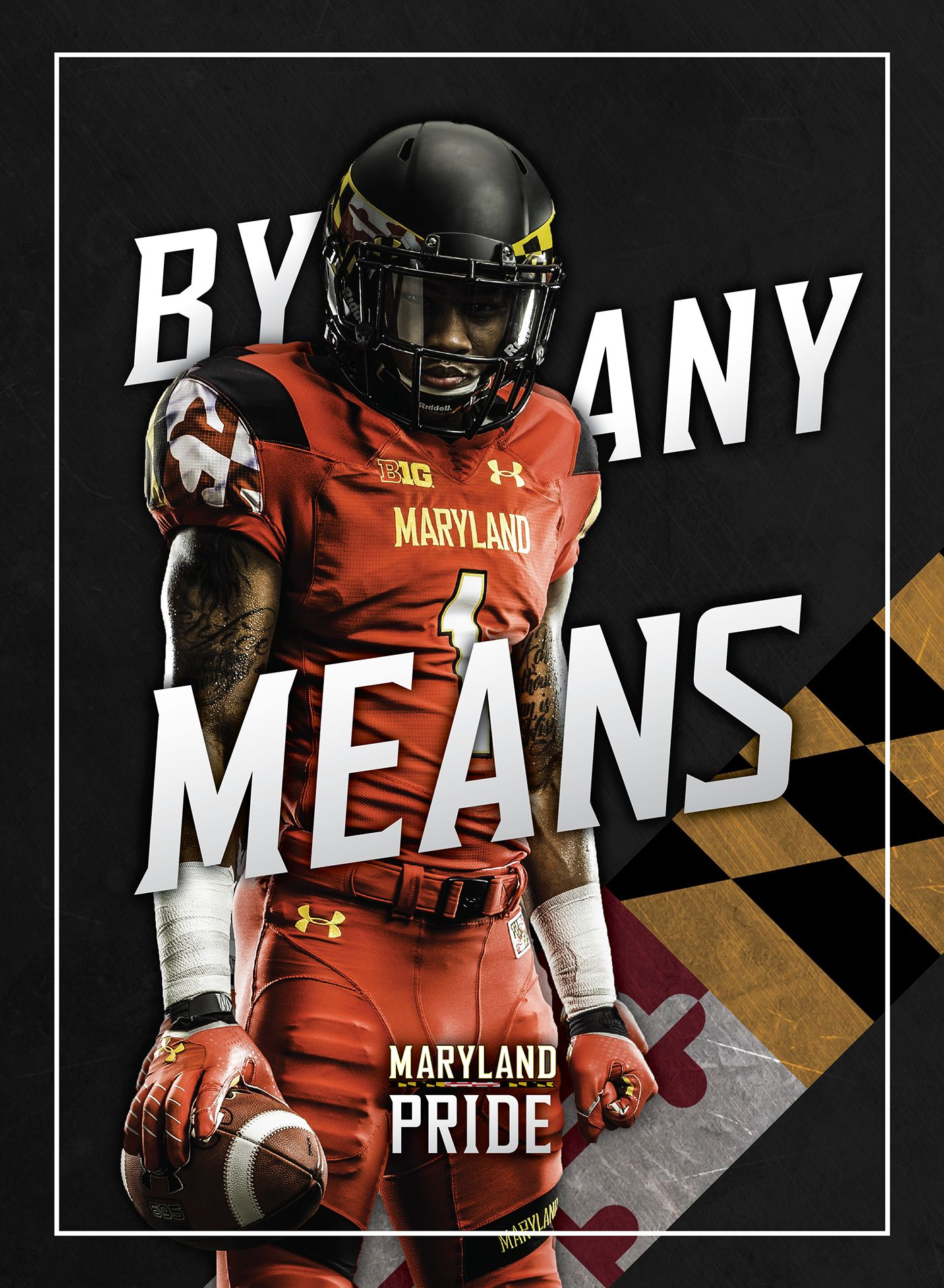 Stefon Diggs Maryland Poster On Behance Football Design Sports Design Basketball Pictures