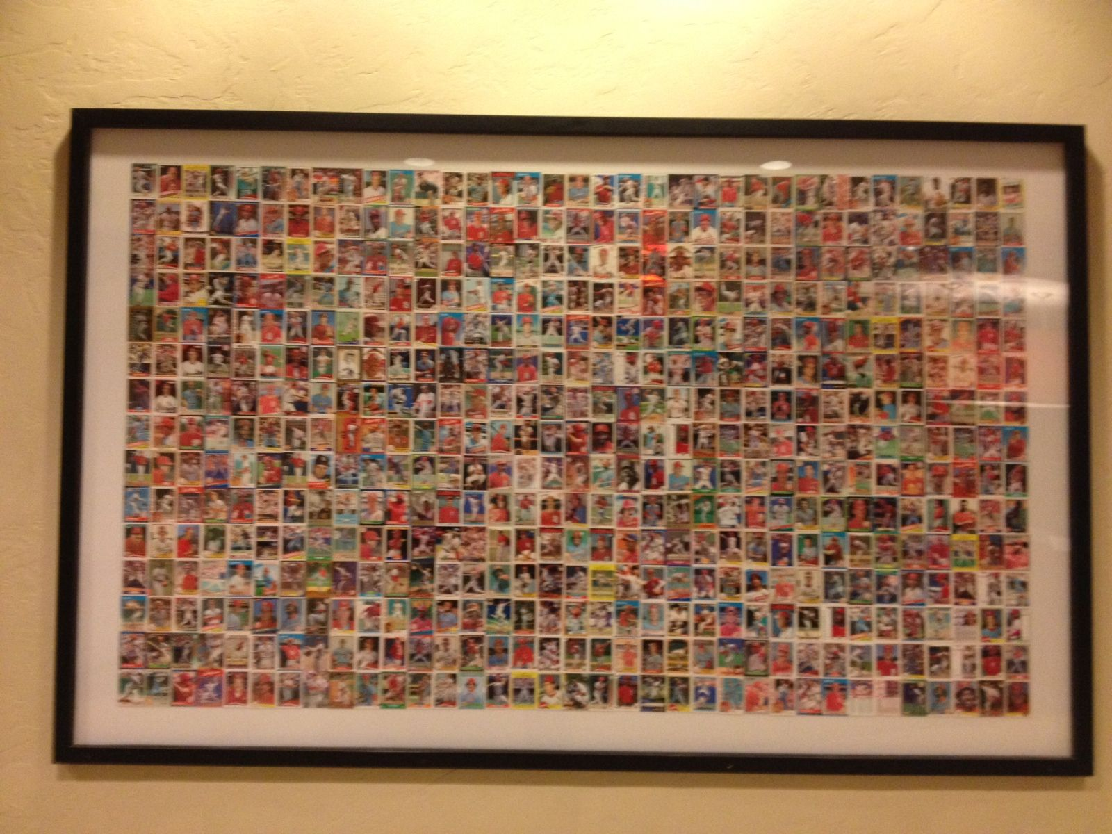 Baseball Cards In Giant Frame Great Way To Use Those Old