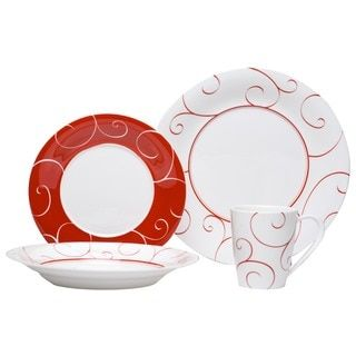 Red Vanilla Freshness Mix \u0026 Match Red Dinner Plate (Set of 6) | Overstock  sc 1 st  Pinterest & Red Vanilla Freshness Mix \u0026 Match Red Dinner Plate (Set of 6 ...
